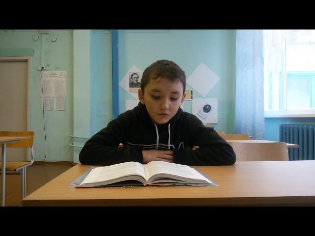 Изображение предпросмотра прочтения – ЭльмирАптразаков читает произведение «Утёс (Ночевала тучка золотая…)» М.Ю.Лермонтова