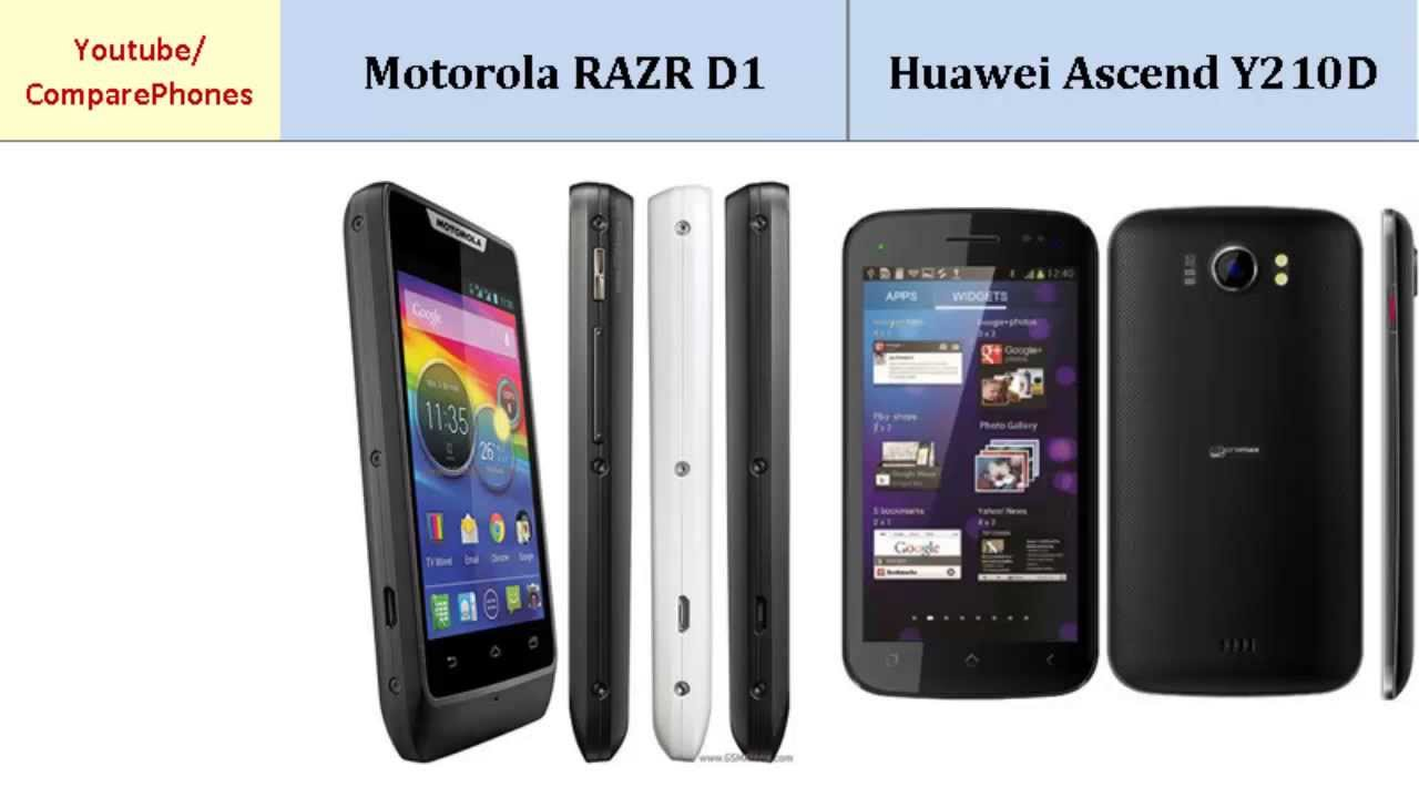 Motorola RAZR D1 or Huawei Ascend Y210D, specifications ...
