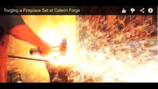 Forging a Fireplace Set at Calerin Forge