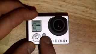 Video Resolution: GoPro HERO3 Menu and camera setup