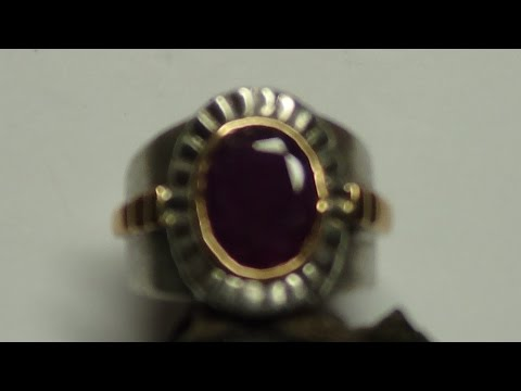 Vintage Gold & Silver Ruby Ring found Metal Detecting