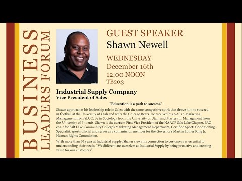 2015 Fall Business Lecture - Shawn Newell