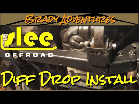 Slee Diff Drop Install - Land Cruiser 100 Series Overland Build