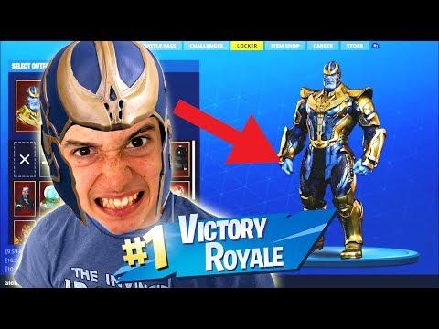 Thanos In Fortnite Battle Royale!! Epic Random Duos!