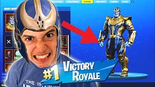 Thanos in Fortnite Battle Royale!! Epic Random Duos!