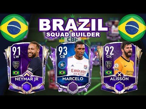 EPIC FULL BRAZIL SQUAD BUILDER IN FIFA MOBILE 21
