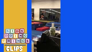 Girl Fails During Gymnastics Jump | Kids Doing Things