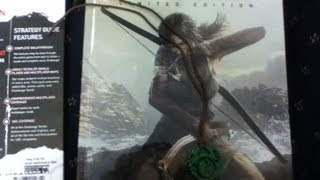 Tomb Raider Limited Edition Game Guide Early Unboxing {HD}