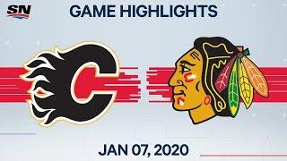 NHL Highlights   Flames vs Blackhawks – Jan. 7, 2020