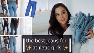 best jeans for athletic girls try on