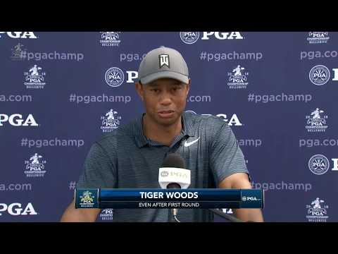 Tiger Woods reaction to first-round 70 at PGA Championship