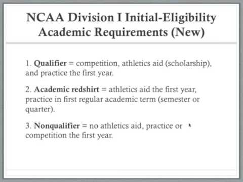 NCAA Division I Initial Eligibility Academic Requirements (New)