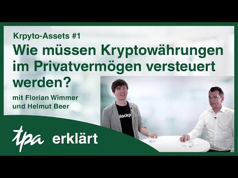 Krypto-Assets #1: Wie müssen Kryptowährungen im Privatvermögen versteuert werden? TPA erklärt