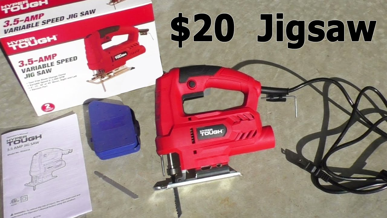 20 Jigsaw From Walmart Hyper Tough Review Electric Saw Power Tool Youtube