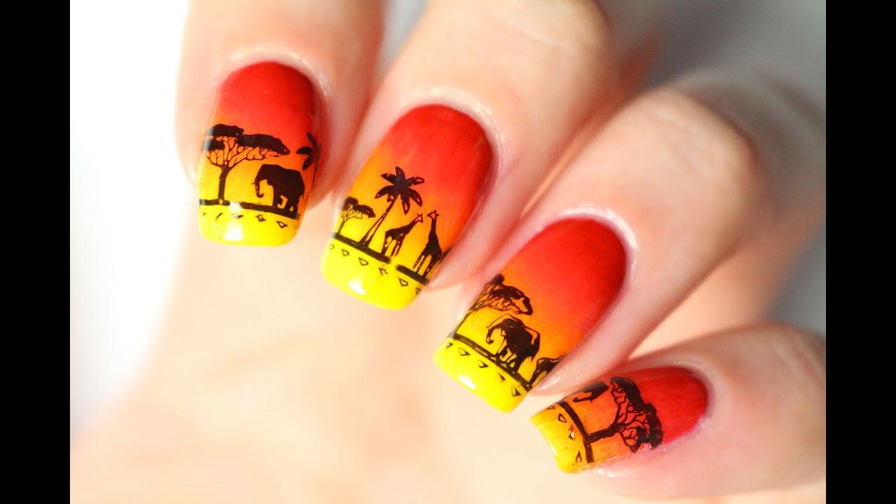 Nail art Disney : le Roi Lion
