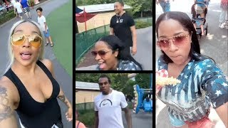 Monica & Toya Wright Double Date At Dollywood Theme Park On IG Live!