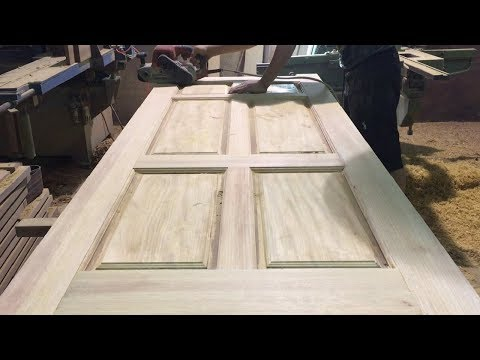 Amazing Woodworking Skill Of Carpenter // Modern Wooden Door Build For Home 2018