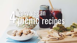 4 EASY VEGAN PICNIC RECIPES | hot for food