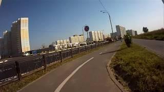 Велодорожка от ТРЦ Июнь (Мытищи) до МКАД (Москва) летом