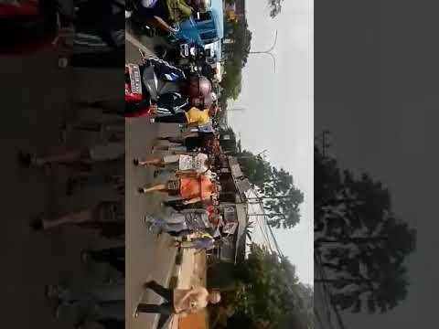 aksi demo warga dan pegadang unjuk rasa tolak SSA di depok