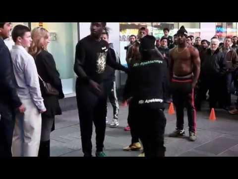 Amazing street dancers on Times Square   Nov 2015