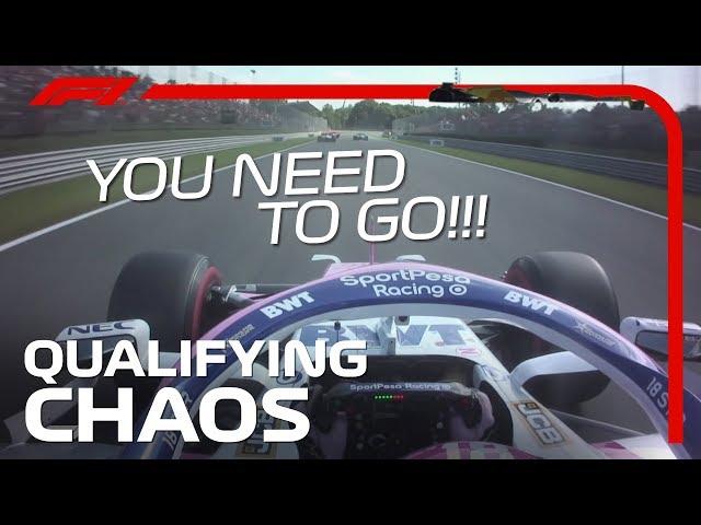 Radio Reaction During Crazy Qualifying | 2019 Italian Grand Prix