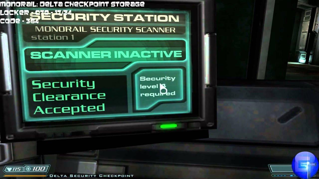 Doom 3 Bfg All Storage Lockers Locations With Codes Goody Finder Trophy Achievement