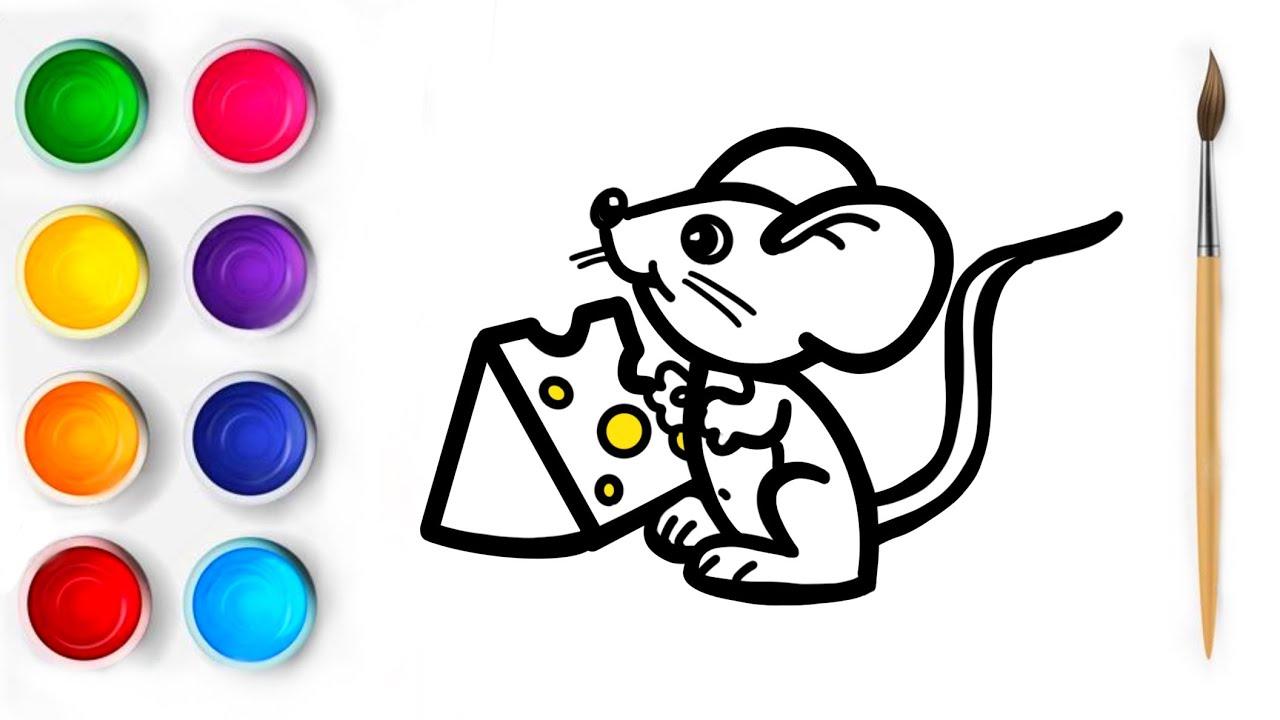 Bolalar uchun Sichqoncha rasm chizish/Рисуем Мышку для детей/How to draw Mouse for kids