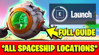 ALL SPACESHIP MISSING PARTS LOCATIONS & HOW TO ACTIVATE THE SPACESHIP EVENT (EASY) - Fortnite