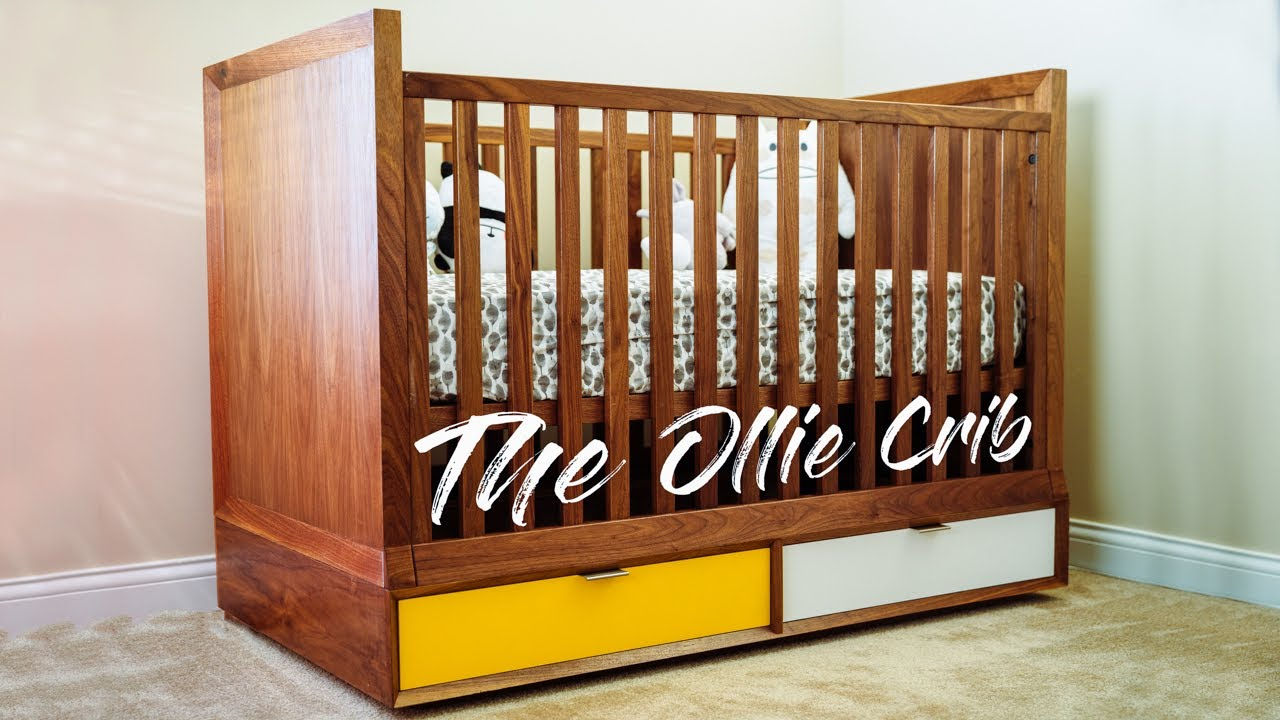 Designing And Building A Mid Century Modern Baby Crib || Woodworking