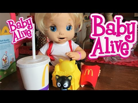 BABY ALIVE 2006 Soft Face doll London+McDonalds Happy Meal+Trolls Surprise Toy by Baby Alive Channel