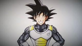 Drawing Goku in Vegeta´s Outfit | Dragonball Super | TolgArt