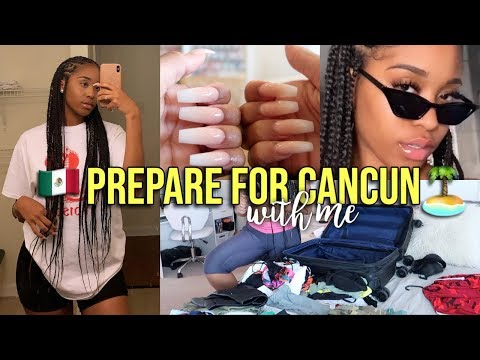 PREPARE FOR VACATION WITH ME! Braids, Lashes, Nails, & Pack With Me