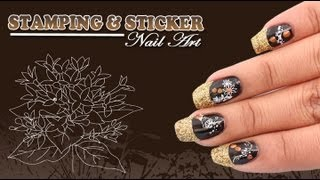 Stamping And Sticker Nail Art Tutorial for Beginners Video - Do it Yourself | KhoobSurati.com