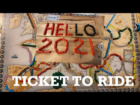 TICKET TO RIDE GAME ON  NEW YEAR EVE |