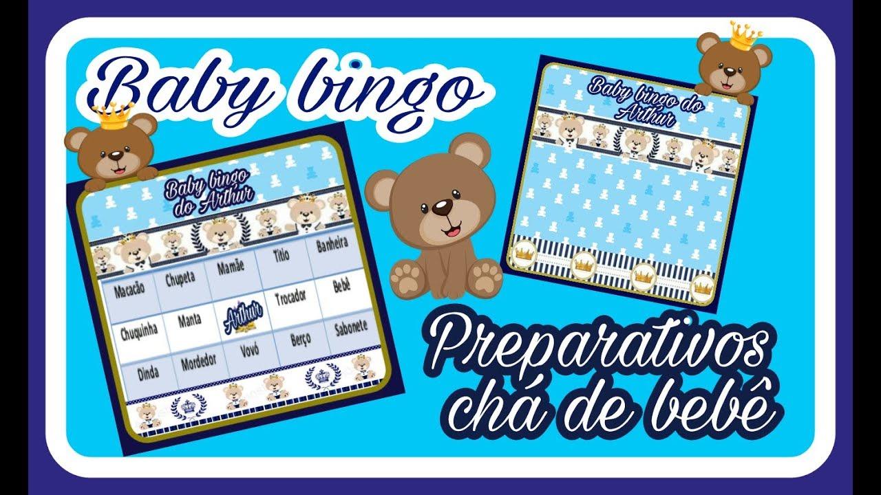 2Diário da gravidez...Personalizando cartela de baby bingo para chá de  bebê... - YouTube