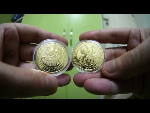 Royal Mint Queen's Beast bullion Gold coins KICKIN ASS and why you should collect it