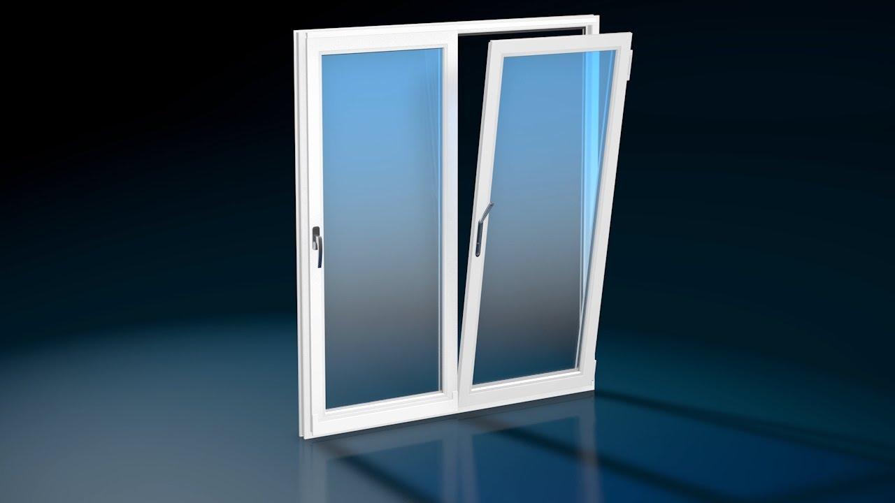 Scorrevole traslante anta ribalta finestre in pvc for Finestre in pvc