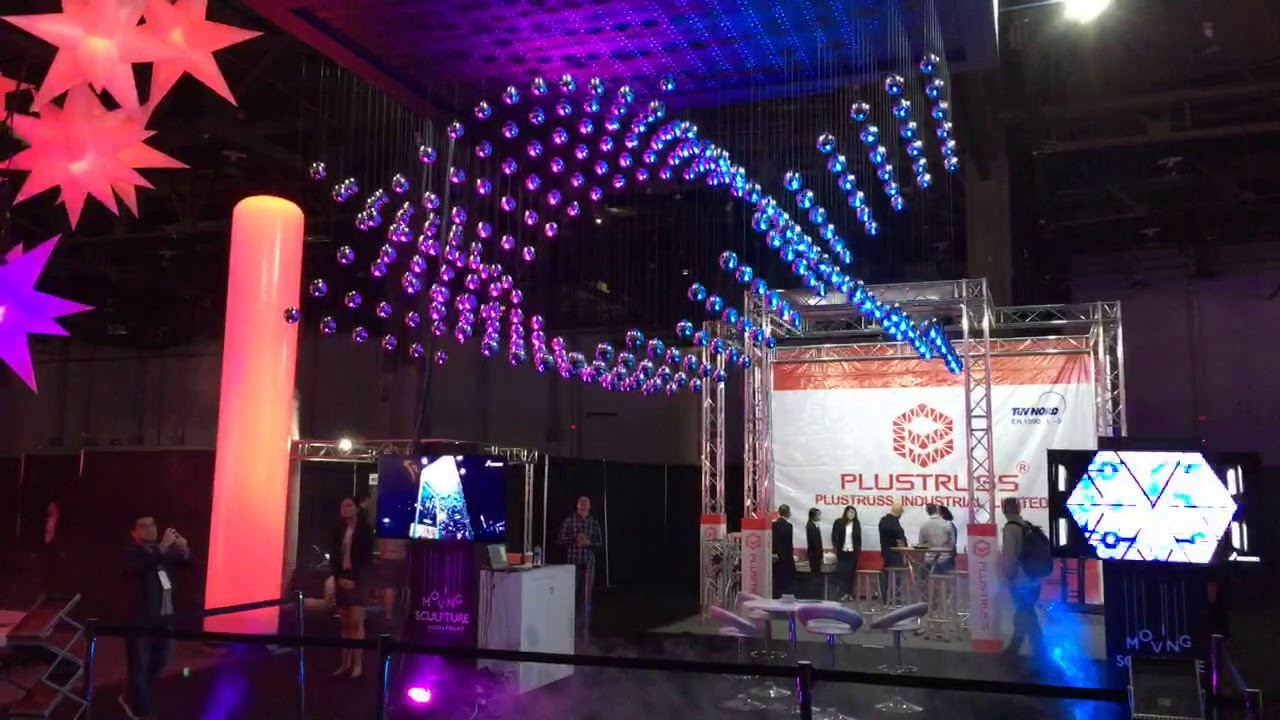 Live Design International Ldi Tradeshow Kinetic Lights System