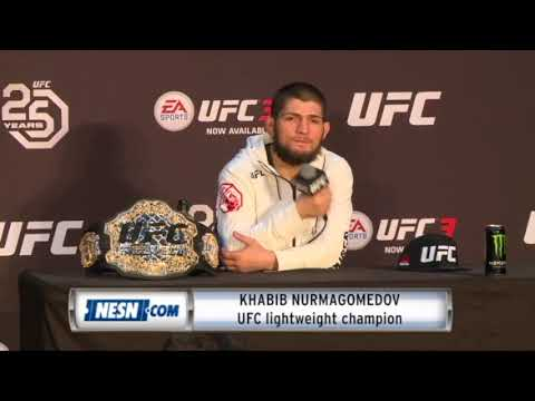 Khabib Nurmagomedov on Conor McGregor: 'We have to fight.'