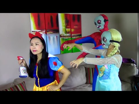 Spiderman & Frozen Elsa vs Joker - Elsa vs HULK vs Snow White - Superhero Fun in Real Life