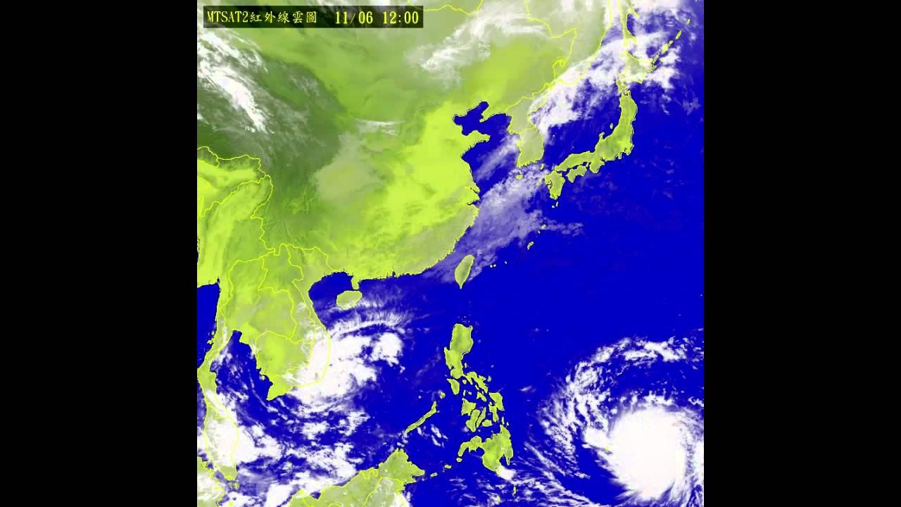 中央氣象局海燕颱風衛星雲圖總回顧 - YouTube