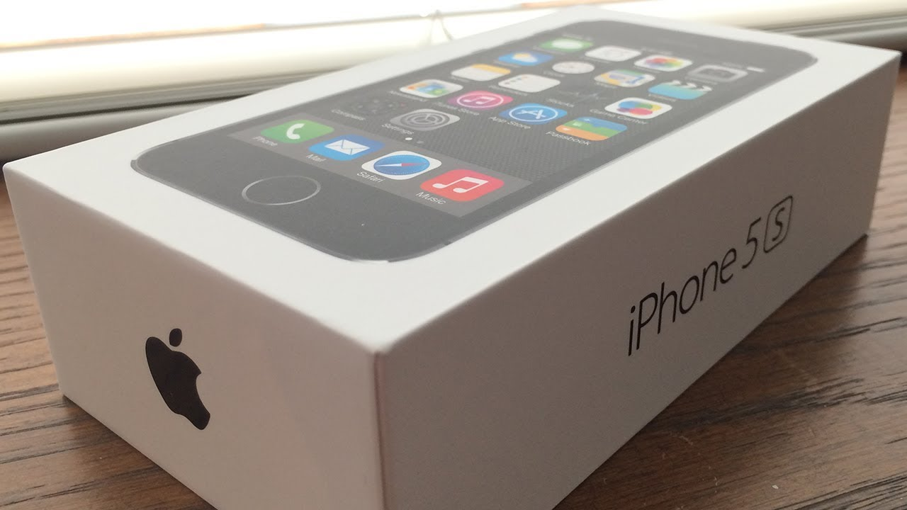 iPhone 5s 16GB Space Grey Unboxing - YouTube