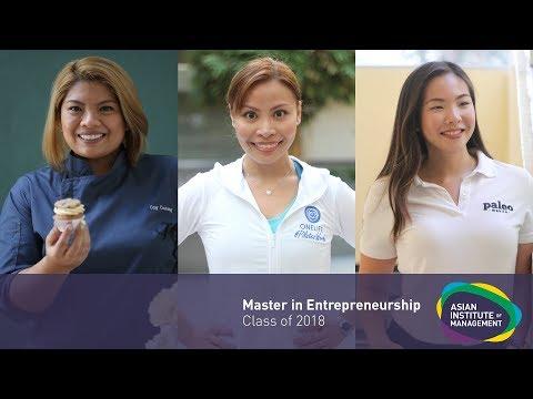 Master in Entrepreneurship (Class of 2018)
