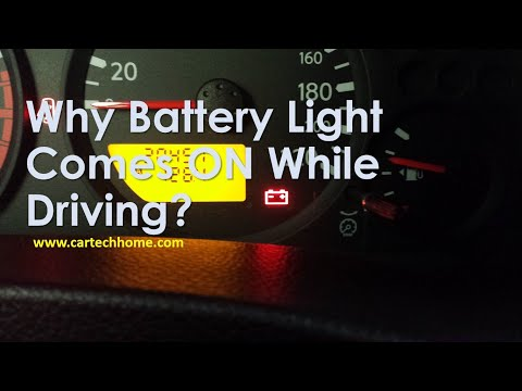 What Causes Battery Light To Comes On While Driving?