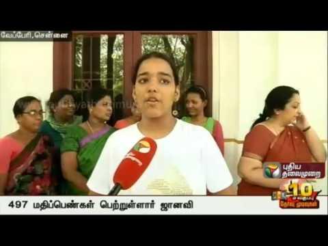 TN SSLC results out: Janavi Sreedhar, third rank holder shares her story