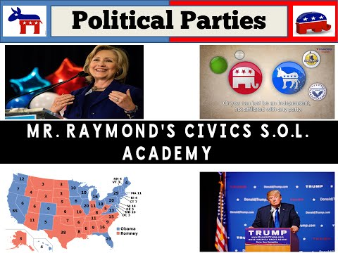 Political Parties - Functions, Similarities & Differences and Third Parties - Civics SOL
