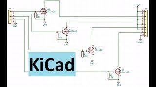 Kicad уроки 2. Создаем схему из библиотечных компонентов