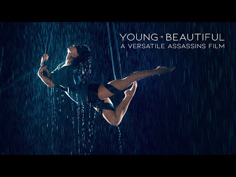 SELKIE HOM | Young And Beautiful | Blindfolded Aerial Performance in Rain Room