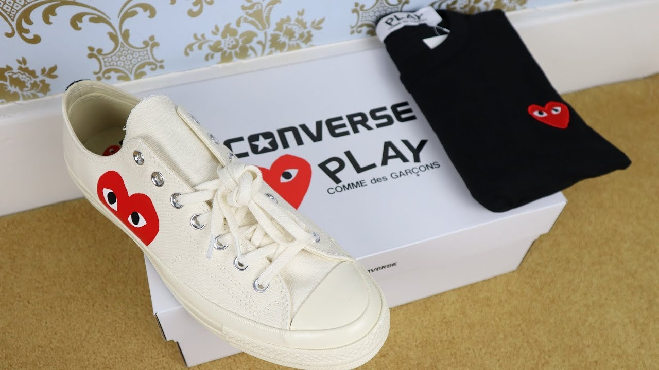 1e68eb377da83a Comme Des Garcons Converse Sneakers   CDG Play T Shirt Review - YouTube